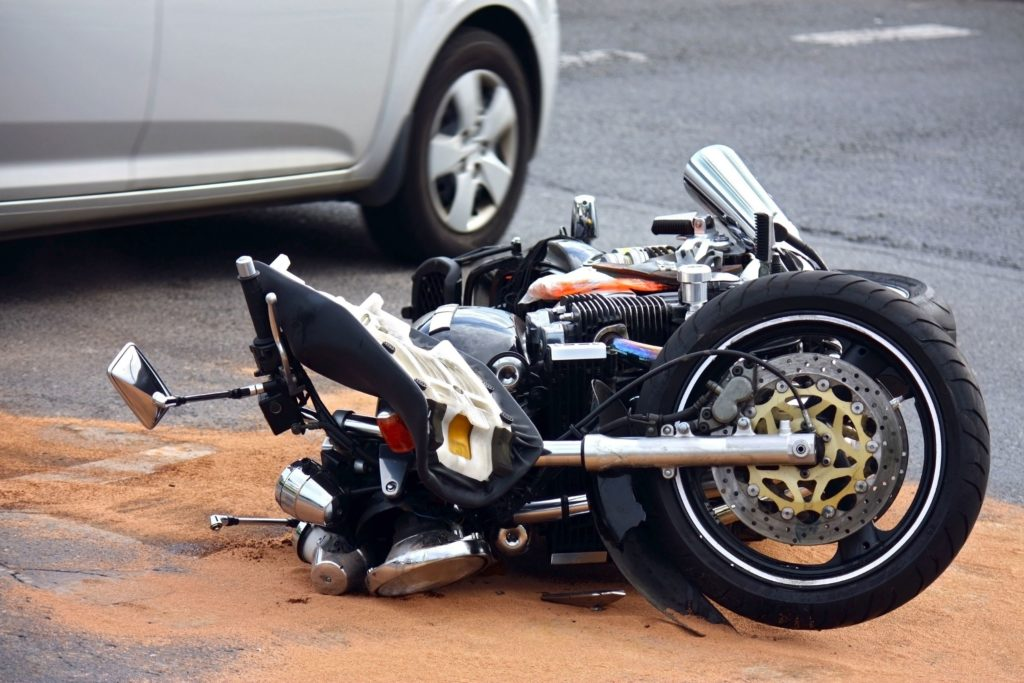 Motorcycle Wreck in Redlands, CA.